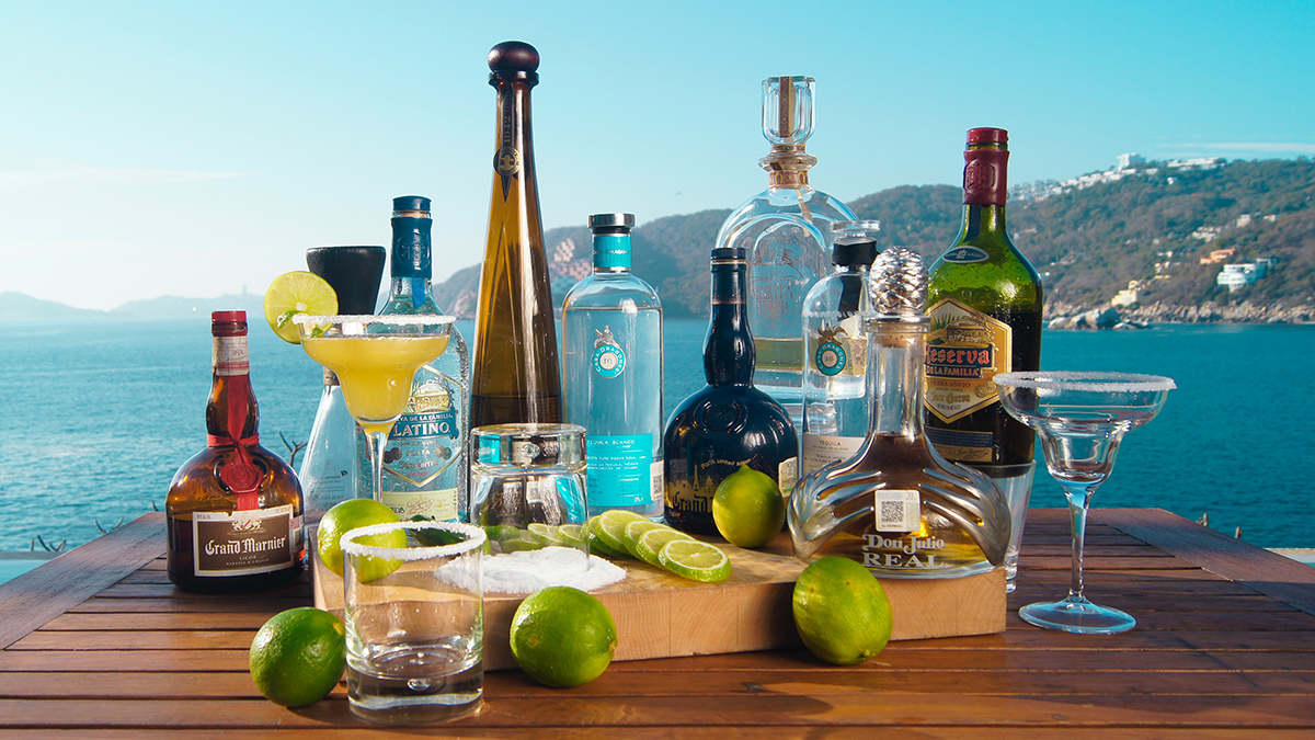 Various types of Tequila